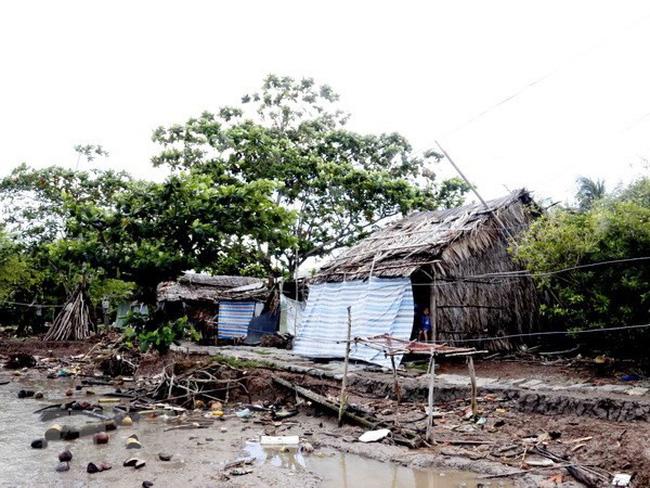 sạt lở đất ở tỉnh Cà Mau