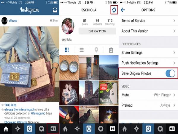 Cách tải ảnh instagram về điện thoại