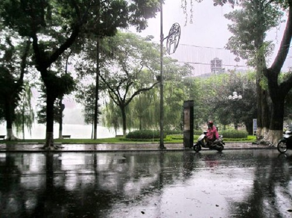 Miền bắc có mưa vào cuối tuần