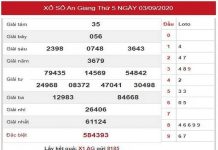 Phân tích XSAG ngày 10/9/2020 – Dự đoán KQXSAG thứ 5 hôm nay