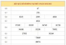 Phân tích KQXSDN ngày 27/1/2021 dựa trên kết quả kì trước