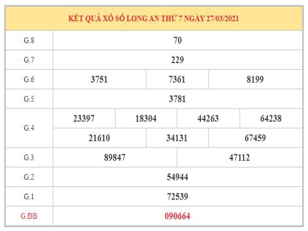 Phân tích KQXSLA ngày 3/4/2021 dựa trên kết quả kì trước