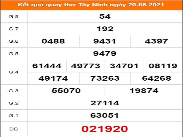 Quay thử xổ số Tây Ninh ngày 20/5/2021